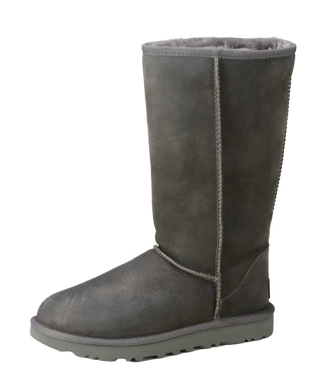 Ugg Classic Tall II Leather Grey Mid-Calf Suede Boot 5M