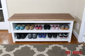 Plans To Build A Storage Bench by Diy Entryway Shoe Storage Bench Fixthisbuildthat