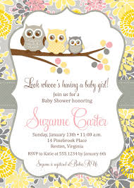 Baby Shower Invitation Cards Templates Owl Baby Shower Invitations Diy Printable Baby Shower