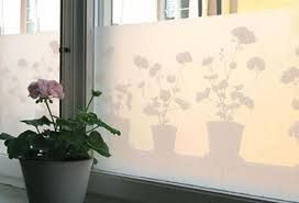 Decorative Home Interiors by Decorative Accents For Window Glass Adding Privacy To Modern Home