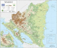 China Topographic Map by Large Detailed Topographical Map Of Nicaragua Nicaragua Large