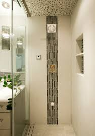 Walk In Shower Ideas For Small Bathrooms Accents Tile To Use With Marble Tile In Shower Contemporary