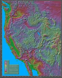 Color Coded Map Of Usa by Shaded Relief Maps Of The United States