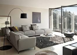 Living Room Design Ideas With Grey Sofa Glass Doors Stainless Steel Handrail Light Grey Living Room Small