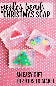 perler bead christmas soap easy gift for kids to make perler