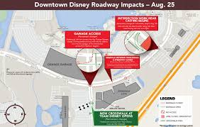 Map Of Downtown Disney Orlando by Upcoming Roadway Changes Around Downtown Disney