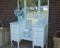 White Shabby Chic Dressing Table by Circa 20 U0027s Antique Turquoise Vanity Salvaged Shabby Chic