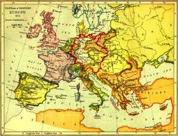Western Europe Political Map by Map Of Central U0026 Western Europe 1815