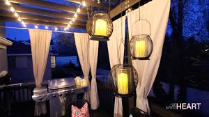 Outdoor Mushroom Lights by Outdoor String Lights And Hanging Lanterns Withheart Youtube
