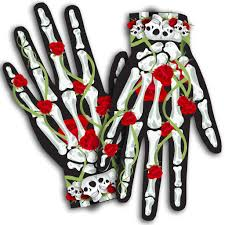 sugar skull gloves halloween costume u2013 silverrainstudio com