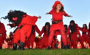 Kate Bush fans re enact Wuthering Heights in Australia   Daily     Kate Bush fans rehearse a dance before performing during a celebration to mark      The Most