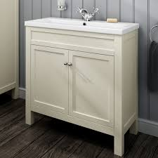 traditional clotted cream bathroom vanity unit basin furniture