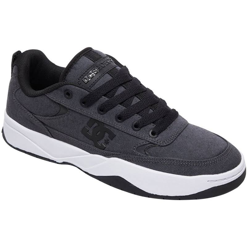 DC Penza TX SE ADYS100533 Gray Canvas Lace Up Athletic Skate Shoes