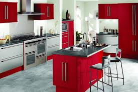 red kitchen colors pictures of kitchens modern red kitchen
