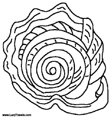 harp coloring page seashell coloring pages getcoloringpages com
