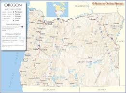 Springfield Oregon Map by Download Map Usa Oregon Major Tourist Attractions Maps