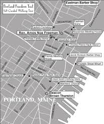 Map Of Portland Maine by Portland Freedom Trail Offers Self Guided Tour Of Abolitionist