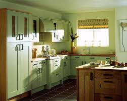 Images Of Kitchen Interiors by Charming Green Painted Kitchen Cabinets Extraordinary Two Colors
