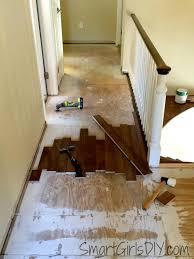 Laminate Flooring No Transitions Upstairs Hallway 1 Installing Hardwood Floors