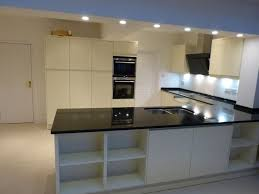 granite countertop kitchen cabinet soffit pearl backsplash