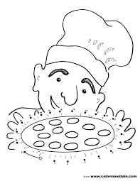 pizza dot to dot activity coloring page create a printout or