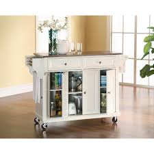 Marble Top Kitchen Island Cart by Baxton Studio Meryland White Kitchen Cart With Storage 28862 5408