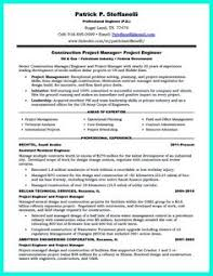 Construction Management Resume Examples by Construction Superintendent Resume Can Be In Simple Design But It