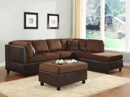 Chocolate Living Room Furniture by Sectional Sofa Couch Reversible Chaise Micro Suede Chocolate