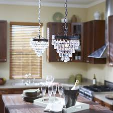 kitchen pendant lighting lowes shop allen roth eberline 9 06 in w oil rubbed bronze crystal