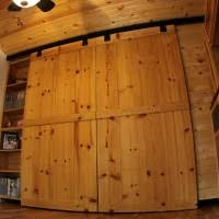 Sliding Barn Closet Doors by Interior Black Single Wooden Closet Door On Black Metal Rails