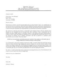 Download in Word Format for Cover Letter For Education Job My Education Job Sample Cover Letter