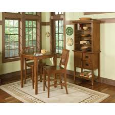 arts u0026 crafts 3pc bistro set cottage oak finish homestyles