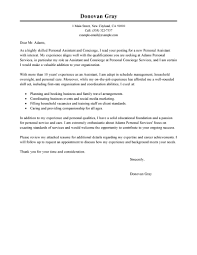 Sample Personal Resume by Best Personal Services Cover Letter Examples Livecareer