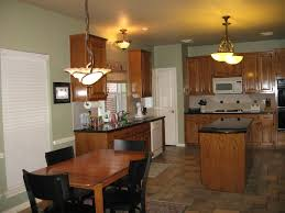 Kitchen Oak Cabinets by Sw Svelte Sage Paint Color With Oak Cabinets Forest Ave House