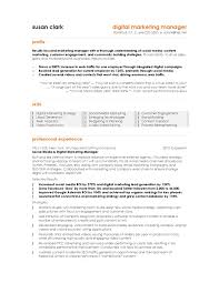 Resume Sample Pdf by Terrific Digital Marketing Manager Resume Template With Marketing