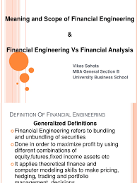 meaning and scope of financial engineering and financial