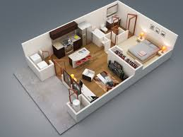 Single Bedroom Apartment Floor Plans by 1 Bedroom Apartment House Plans