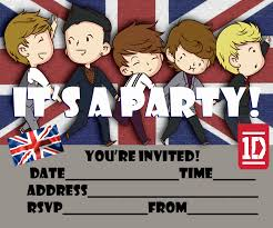 Printable Invitation Card Stock One Direction Free Printable Party Invitation For 1d Fans To Print