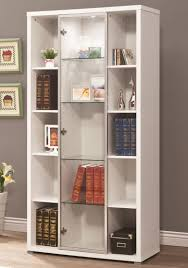 book shelves with glass doors glass door bookcase white