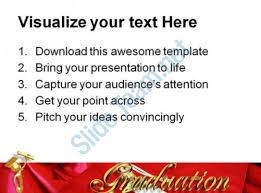 Red Graduation Cap Education PowerPoint Backgrounds And Templates