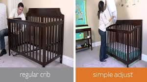 young america convertible crib simple adjust youtube