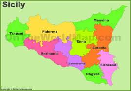 Italy Region Map by Sicily Maps Italy Maps Of Sicily Sicilia