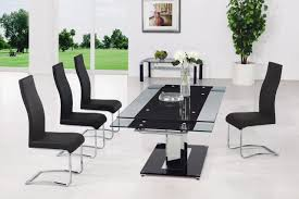 Glass Rectangle Dining Table Chair Glass Rectangular Dining Table Chairs To Match Modern Style