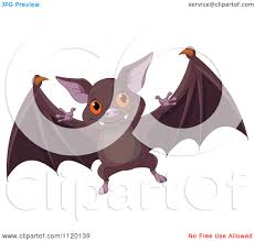 bats images clip art cartoon of a cute flying vampire bat royalty free vector clipart