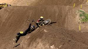 motocross news james stewart lucas oil pro motocross james stewart crash 450 moto 1