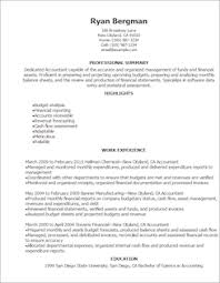Financial Resume Sample by Accounting U0026 Finance Resume Templates To Impress Any Employer