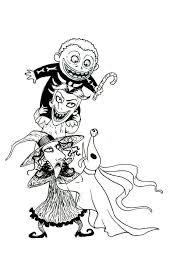 download nightmare before christmas coloring pages omg halloween