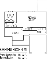 Ranch Style House Plans With Basement by Simple House Floor Plans 3 Bedroom 1 Story With Basement Home Design
