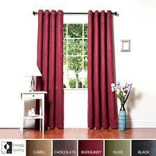 Blackout Curtain Panels Aurora Home Faux Suede Grommet 95 Inch Insulated Blackout Curtain