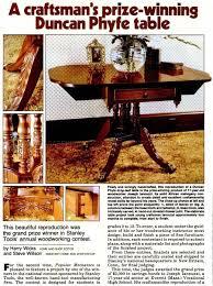 duncan phyfe table plans u2022 woodarchivist